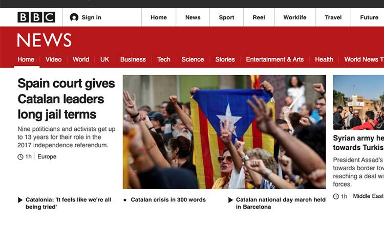 La premsa internacional es fa ressò de la sentència del procés
