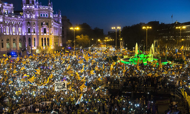 Cs denuncia la cobertura de TV3 de la manifestació de Madrid davant la Junta Electoral