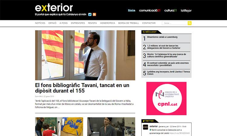 Neix Exterior.cat, el portal que explica què fa Catalunya al món