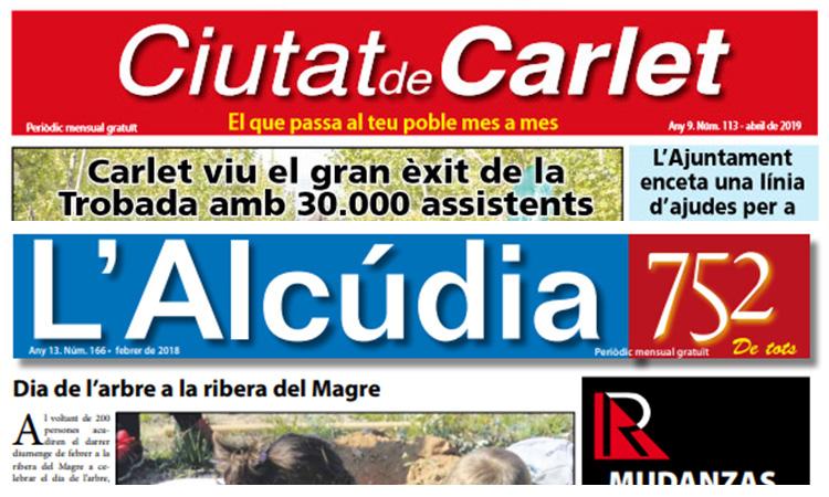 Ciutat de Carlet i L'Alcúdia 752 mantenen la capçalera en paper