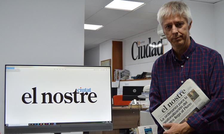"""Lluís Peidro: """"El Nostre Ciutat som hereus d'una tradició periodística a Alcoi que ja suma 183 anys"""""""
