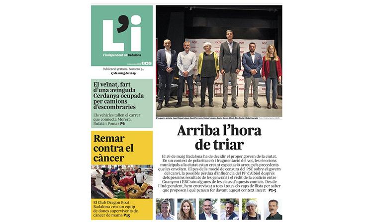 L'Independent de Badalona suspèn l'edició en paper fins al setembre