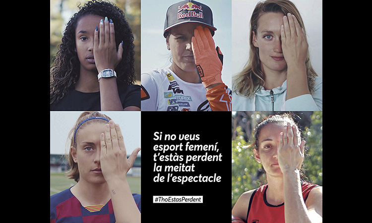La campanya #ThoEstàsPerdent fomenta l'esport femení en els mitjans
